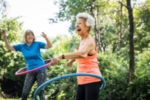 Having fun can be a benefit of exercise